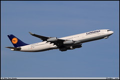 AIRBUS A340 313 Lufthansa D-AIGU 0321 Frankfurt septembre 2018 (paulschaller67) Tags: airbus a340 313 lufthansa daigu 0321 frankfurt septembre 2018