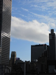2019 February Building Cloud Reflection 2579 (Brechtbug) Tags: 2019 february afternoon light again virtual clock tower from hells kitchen clinton near times square broadway nyc 02272019 new york city midtown manhattan winter weather building breezy cloud hell s nemo southern view