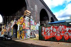 Victorian Arch and Graffiti, Birmingham. (Manoo Mistry) Tags: birmingham englanduk westmidlands nikon nikond5500 tamron tamron18270mmzoomlens streetart mural graffiti spraypaint