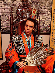 Lord Josh Allen - Kongming Feather Fan (Josh100Lubu) Tags: lordjoshallen lordjosh occult occultism occultist magician magick lamat771 lamat lamatology spiritual spirituality kongming kongmingfan zhugeliang zhugekongming zhuge sorcery sorcerer emperor chinese cosplay china king throne threekingdoms taoism feathers colourful costume weathermagick