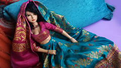 Indian night (D.Maula) Tags: asiandolls dolls doll lutsdoll lutsbjd bjd bjds cerberusproject delflishe luts delf lishe lishetanning lishetan tanlishe saree indian clothes