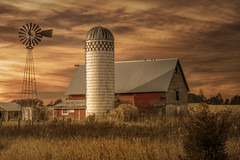 Quieting Down (henryhintermeister) Tags: barns minnesota wibarns oldbarns clouds farming countryliving country sunsets storms sunrises pastures nostalgia skies outdoors seasons field hay silos dairybarns building architecture outdoor winter serene grass landscape plant cloudsstormssunsetssunrises cambridgekmn