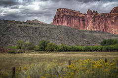 Capitol Reef National Park (donnieking1811) Tags: utah fruita capitolreefnationalpark capitolreef nationalpark park mountain landscape outdoors flowers fields sky clouds hdr canon 60d lightroom photomatixpro