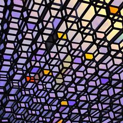 Silence coloured in (Arni J.M.) Tags: architecture building silencecolouredin harpa harpaconcerthall henninglarsenarchitects olafureliasson glass hexagons wall facade reykjavik iceland