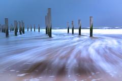 Flow (Katja van der Kwast) Tags: 2019 the netherlands nederland petten beach strand sea zee ocean oceaan noordzee northsea springtide springtij poles palen flow water waves golven