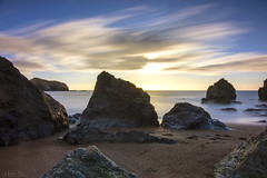 Rocks and Flying Clouds (milton sun) Tags: rodeobeach marincounty california longexposure dusk seascape bay ngc bayarea wave ocean shore seaside coast westcoast pacificocean landscape outdoor clouds sky water rock mountain rollinghills sea sand beach cliff nature sunset