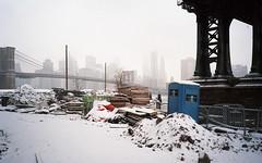 The Future Brooklyn Bridge Park - February 2015 (neilsonabeel) Tags: olympusxa3 olympus winter snow construction brooklyn manhattan newyorkcity