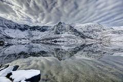 Stretch your eyes (pauldunn52) Tags: llyn idwal snowdonia reflection mirror y barn sky north wales ogwen