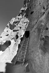 Bandolier National Monument (repete7) Tags: nationalmonument bw newmexico losalamos unitedstates us blackandwhite bandoliernationalmonument ladder hss blackwhite