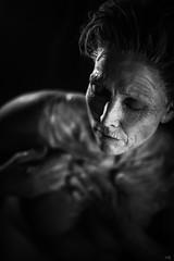 clay I (*altglas*) Tags: clay earth skin monochrome black bw portrait woman rokkor1258