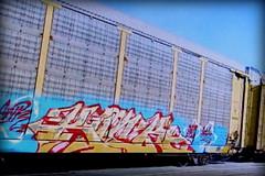 (timetomakethepasta) Tags: kick awr msk freight train graffiti art ns autorack norfolk southern