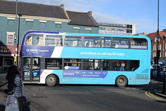 ANE 7545 @ Newcastle-upon-Tyne Eldon Square/Haymarket bus station (ianjpoole) Tags: arriva north east alexander dennis enviro 400mmc yx17nnu 7545 working sapphire route x21 newcastleupontyne haymarket bus station seacrest road newbigginbythesea