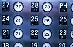 now what? (pbo31) Tags: bayarea california nikon d810 color february 2019 boury pbo31 night dark black sanfrancisco city urban elevator foxplaza patrix siemer civiccenter numbers floors gray building