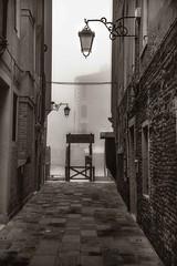Traghetto - S.M. Del Giglio (photofitzp) Tags: bw blackandwhite delgiglio fog italy traghetto venice