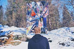 The Door To The Past Is Broken.... Move On.... (JLC Photography Spokane,WA) Tags: selfie selfportrait abstract surreal photoshop creative conceptual broken pieces door past weird odd spokane washington canon snow trees march timemachine minnehahapark sun portal male man guy