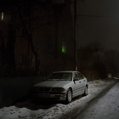 (Benjamin Skanke) Tags: yashica mat 124g analog film fuji 400h night fog