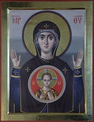 Образ Божией Матери «Знамение» (в технике энкаустики)