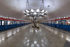 Trains (gubanov77) Tags: metro subway underground trains transport platform station moscow metropoliten moscowmetro moscowphotography troparyovo railway urban city sculptures