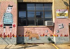 Canine Crossfit by Ramiro Studios (wiredforlego) Tags: graffiti mural streetart urbanart aerosolart publicart williamsburg brooklyn newyork nyc ny ramirostudios