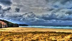 Rennies beach IV (elphweb) Tags: hdr highdynamicrange nsw australia coast coastal sea ocean water beach seaside clouds cloudy skies sky waves