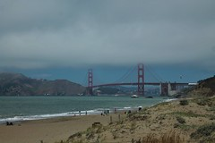 Golden Gate in a windy and cloudy day (Kasimir) Tags: goldengate bridge sanfrancisco puente ocean oceano pacific water beach playa sand