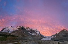 Sunrise over Mounts Athabasca, Andromeda and the Athabasca Glacier, Jasper National Park, Alberta (www.clineriverphotography.com) Tags: yeartaken mountandromeda mountathabasca sunrisesunset alberta columbiaicefields jaspernationalpark location 2011 canada light