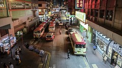 Hong Kong Mongkok Overpass Buses Time Lapse (ronang) Tags: timelapse hong kong mini bus mongkok night right lights neon