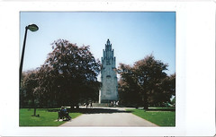 ix - war memorial park (johnnytakespictures) Tags: fuji fujifilm instax mini 8 eight instaxmini film fujiinstaxmini instantfilm polaroid analogue 300 expired expiredfilm coventry godiva memorial park monument war summer sun sunshine dedication tower tree trees gardens nature natural architecture