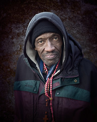 Terry (mckenziemedia) Tags: man homeless homelessness chicago chicagoland urban city streetphotography street people portrait portraiture coat hood hoodie winter humanity