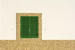 Green shutter (Jan van der Wolf) Tags: map1821v green groen wall muur shutter blinde simple simpel minimalism minimalistic minimalisme minimal minimlistic window raam fuerteventura gevel facade geometric geometry geometrisch geometrie