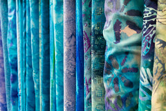 Bolts of Fabric (Eric Bloecher) Tags: fabric blue color colors cloth craft texture depth field pattern