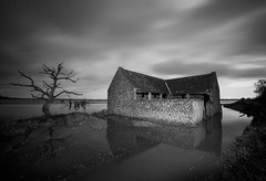 The Haunted (Coless66) Tags: beautiful exmoor porlock linhay barn haunted blackandwhite monochrome trees tidal reflections derelict 1540ad medieval decoyman's house canon7d history mind peaceful winter 14mm abstract somerset