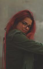Camila Moraes   50mm (Habittart) Tags: red redhead vsco art photography tumblr green colorful city pink instagram brazil girl canon 50mm portrait dslr