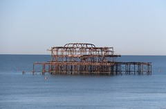 Brighton West Pier (richardr) Tags: sea seaside englishchannel westpier pier ruin ruins derelict brightonandhove brighton eastsussex sussex water building architecture england english britain british greatbritain uk unitedkingdom europe european old history heritage historic victorianarchitecture victorian victoriana 19thcentury nineteenthcentury