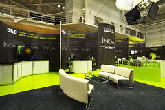 L'OREAL STAND ('we bring brands to life') Tags: afibranding custom curved ss101 blackout