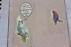 IMG_5286 rue Gabrielle Paris 18 (meuh1246) Tags: streetart paris paris18 buttemontmartre animaux ruegabrielle oiseau massiveattack