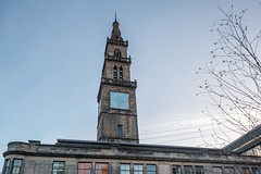 Merchants Steeple, Now Enclosed Within the Fish Market, Glasgow (David_Leicafan) Tags: xpro2 xf1428 glasgow briggait merchantssteeple fishmarket
