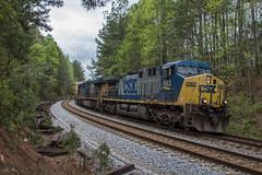 CSX M782-08 Marching North (travisnewman100) Tags: csx train railroad freight manifest local wa subdivision rr atlanta division emd ge ac44cw es40dc gp403 m782 double tracks