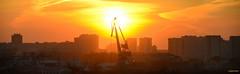 12.04.19  Industrial  sunset panorama (kirill.jankowsky) Tags: industrial sunset panorama omsk siberia tokina 300mm28 atxsd nikon d800 crane river иртыш кран закат омск панорама 300mm