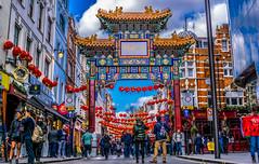 新年快乐 (Gordon McCallum) Tags: happynewyear 新年快乐 london londonengland streetscene tourists chinatown lislestreet pedestrianprecinct sony sonya6000 sigma30mm114contemporarylens wardourstreet