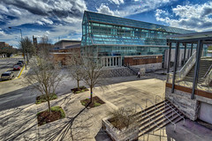 Knoxville Convention Center, 2019.02.07 (Aaron Glenn Campbell) Tags: ±3ev a6000 ilce6000 mirrorless knoxvilleconventioncenter clinchave 3xp hdr macphun skylum aurorahdr nikcollection viveza colorefexpro winter worldsfairpark reflections sky clouds rokinon 12mmf2ncscs wideangle primelens manualfocus shadows sunlight knoxcounty downtown knoxville tennessee