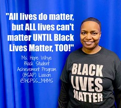 MsWhyeBlackLivesMatter (The Daring Librarian) Tags: blacklivesmatter blackstudent achievement program hcpss