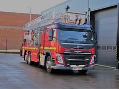 DK68DAO (HkEmergencyPhotography) Tags: merseyside fire rescue service brigade emergency vehicle uk liverpool engine volvo fl bronto alp cpl new truck blue lights siren 999 112 911