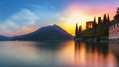 An oldie, but I wanted to share it anyways. A sunset almost blue hour over Como lake in Italy. I love the reflections and mountains in this one. My home country really should have a few mountains. (Bart Ros) Tags: como italy lake lakecomo italian mountainjs sky colors skies reflections blue