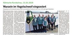 2019-01-31-Koelnische-Rundschau--Festkommers (Sebastianer) Tags: artikel sebastianus patronatsfest flittard köln germany deutschland