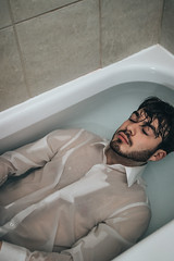 Bath | 3 (_ALBX_) Tags: man indoor studio bath bathroom selfportrait portrait photography photographer canon canon80d sigma 30mm albxphoto albx art
