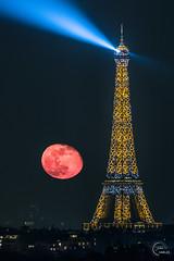 Combo moon & shining Eiffel Tower 🌕✨ (Julien CHARLES photography) Tags: eiffel eiffeltower europe france paris toureiffel lune moon supermoon view