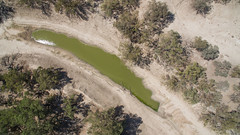 Soon to be gone (OzzRod) Tags: dji phantom3advanced drone quadcopter waterhole stagnant riverbed dry drought darlingriver louth westernnsw outback