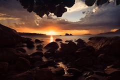 Stormy Sunset (Cristian Malevic) Tags: 2470 beach brasil chuva clouds d810 daylight ilhabela luzdodia nikon nuvens ocean pedras pôrdosol rain rocks sp sol sun sunset water sãopaulo br