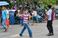 Happy Boy (Beegee49) Tags: street boy smiling children laughing waving happy planet luminar sony a6000 bacolod city philippines asia